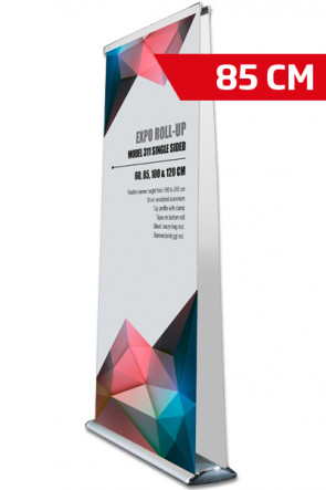 Expo Roll-up, Dobbelt Model 85cm - alu.  ( New size )