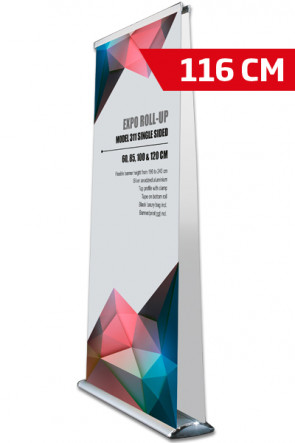 Expo Roll-up, Dobbelt Model 116cm - alu