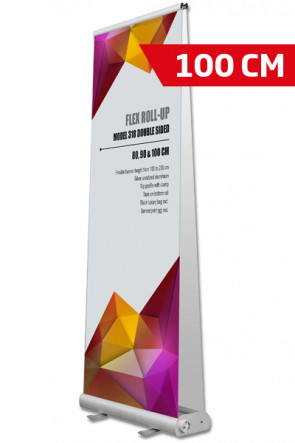 Flex Roll-up, dobbelt 100x107-237cm alu, med taske