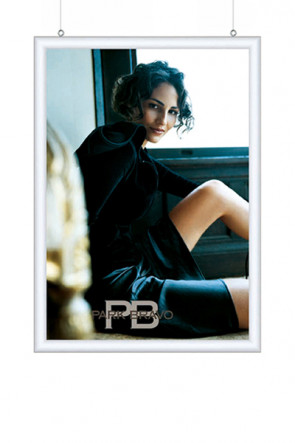 DOUBLE SIDED SNAP FRAME 25mm (G) 50x70cm alu