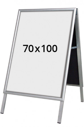 ALU-LINE Budget Gadeskilt 25mm 70x100cm (G) ALU