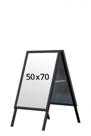 ALU-LINE BLACK gadeskilt 32mm 50x70cm (G) - Sort