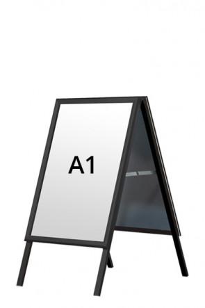 ALU-LINE BLACK gadeskilt 32mm A1 (G) - Sort