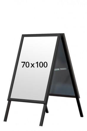 ALU-LINE BLACK gadeskilt 32mm 70x100cm (G) - Sort