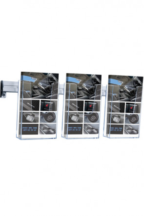 Brochure Holder Wall Arylic  3xM65