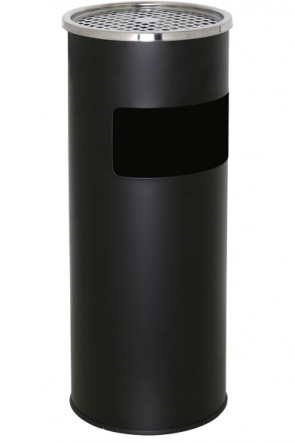 Cigarette Trash Can 18 L - Black