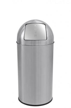 Dust Bin Push, 25 L - Silver