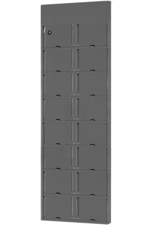 Info Module Board 16xA6 - Koksgrå, RAL 7016