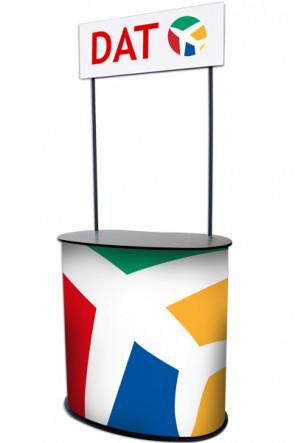 Panelcounter - Curved. Med hjul og logo top