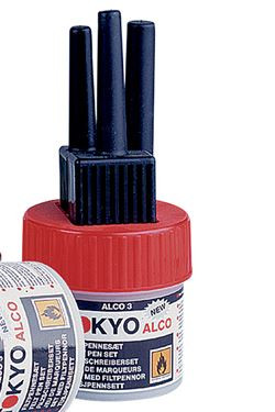 TOKYO ALCO 3 filtpennesæt rød